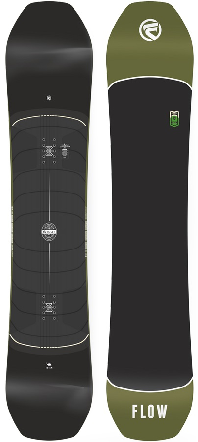 Flow Stout Hybrid Camber Snowboard, 160cm Wide 2018