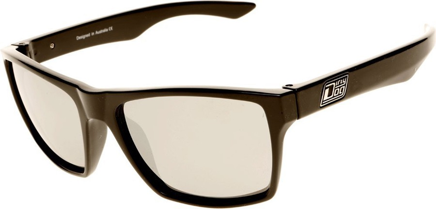 Dirty Dog Vendetta Polarized Sunglasses Black Silver Polarized