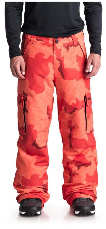 DC Banshee Ski/Snowboard Pants, L Red Orange DCU Camo