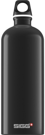 Sigg Traveller Alumnium Water Bottle, 1L Black
