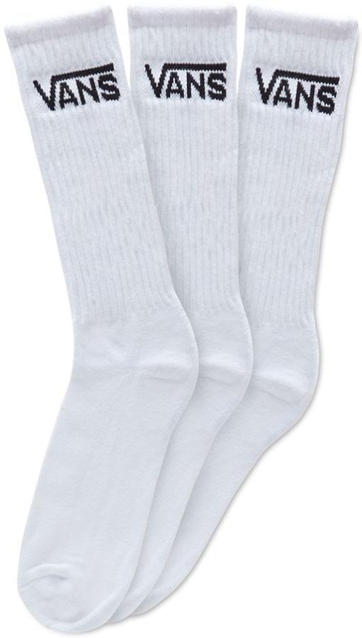 Vans Classic Crew 3-Pack Men's Socks, UK 9.5-13 White