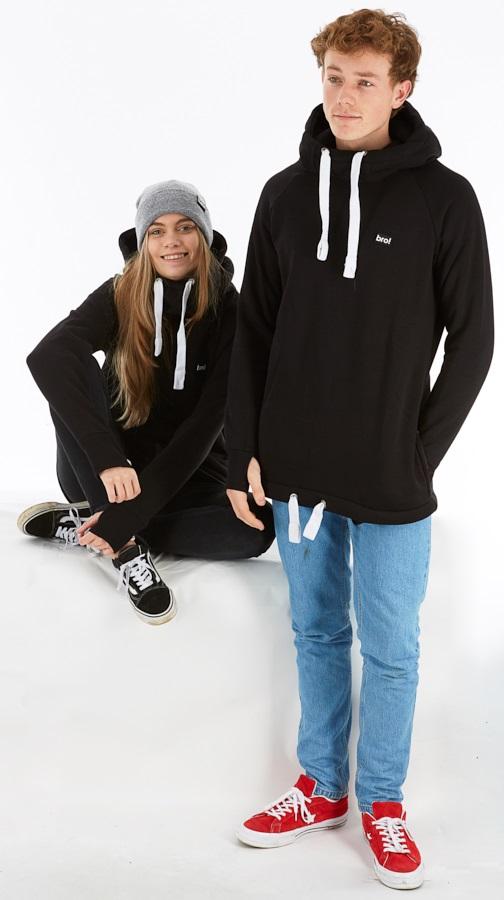 bro! Chill N'shred Unisex Ski/Snowboard Hoodie, M Black