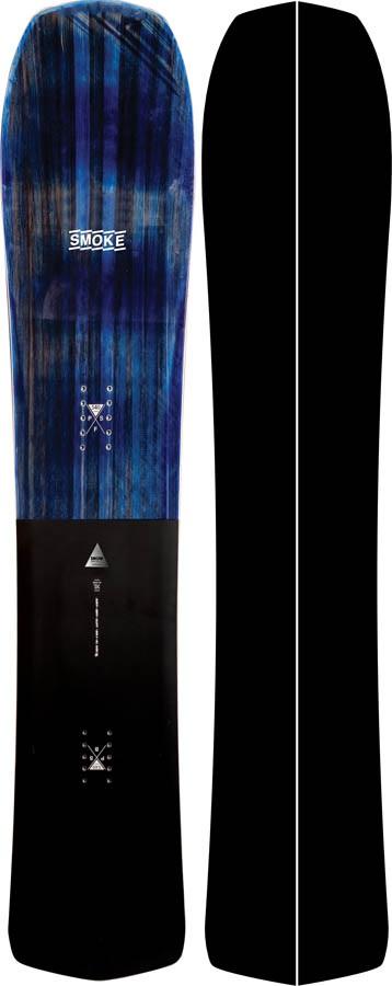 Nidecker Adult Unisex Smoke Hybrid Camber Snowboard, 161cm 2020