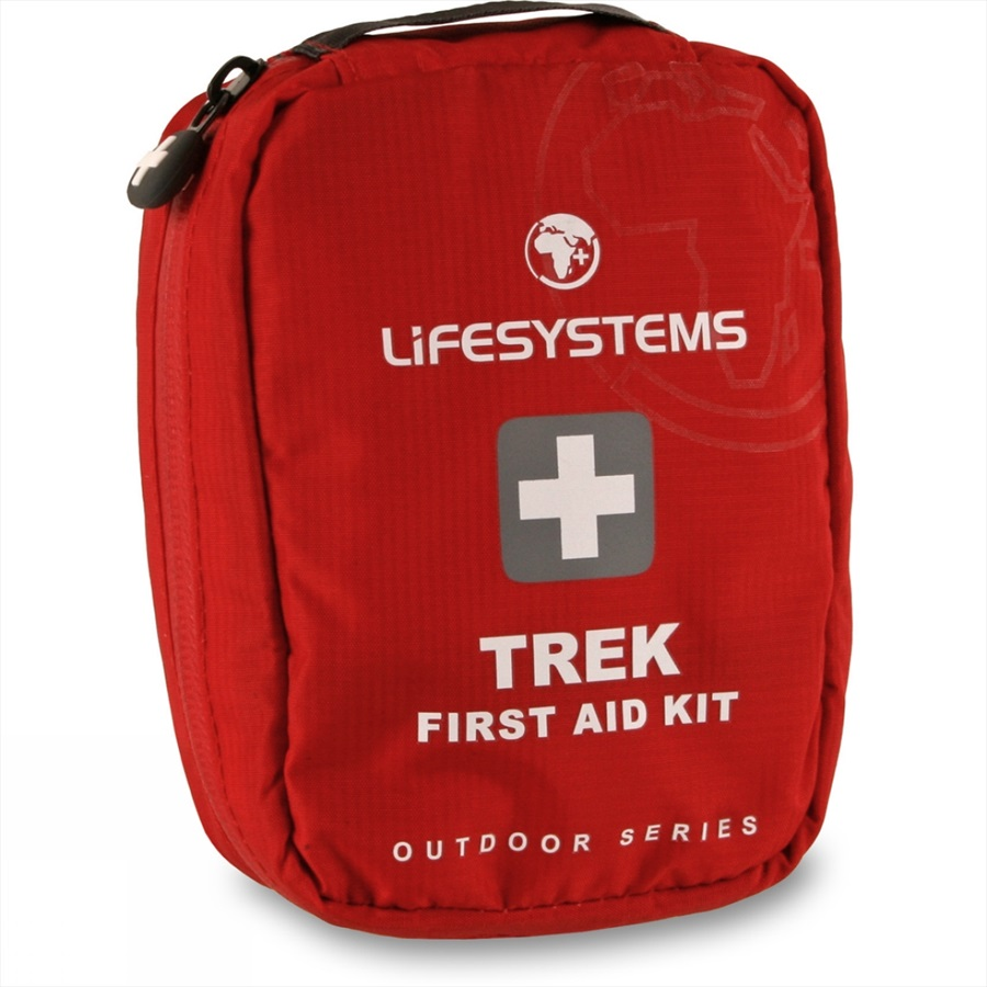 Lifesystems Trek Portable First Aid Kit 23 Items Red