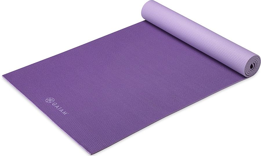 Gaiam Premium 2 Colour Yoga Mat 6mm Purple Jam
