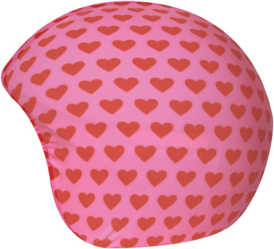 Coolcasc Printed Cool Ski/Snowboard Helmet Cover, Pink/Red Hearts