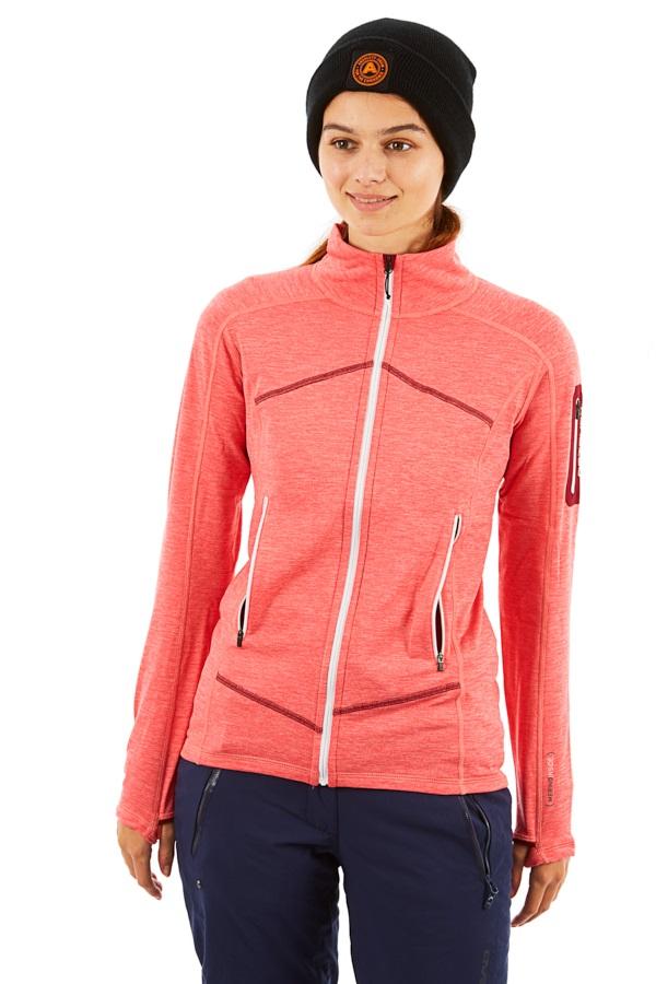 Coral Ortovox SHot Jacket Light Melange Women's Midlayer Fleece TFJc35lK1u