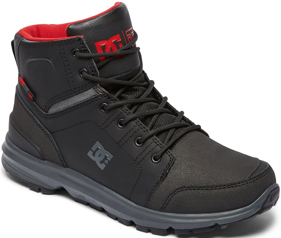 DC Torstein Men's Winter Boots, UK 10.5 Black/Grey/Red