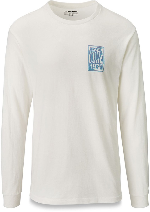 Dakine Ripstack Long Sleeve Cotton T-Shirt, L Off White