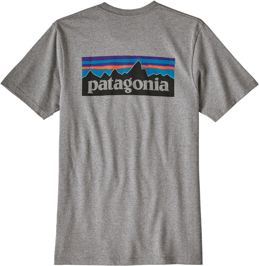 Patagonia P-6 Logo Responsibili-tee T-Shirt, XL Gravel Heather