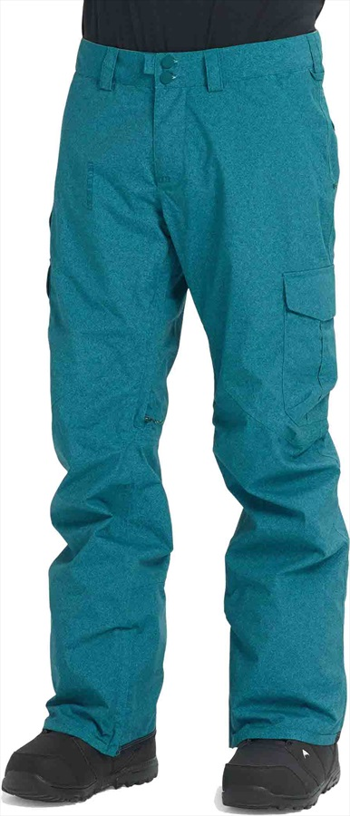 Burton Cargo Relaxed Fit Snowboard/Ski Pants, M Deep Teal Acid Wash