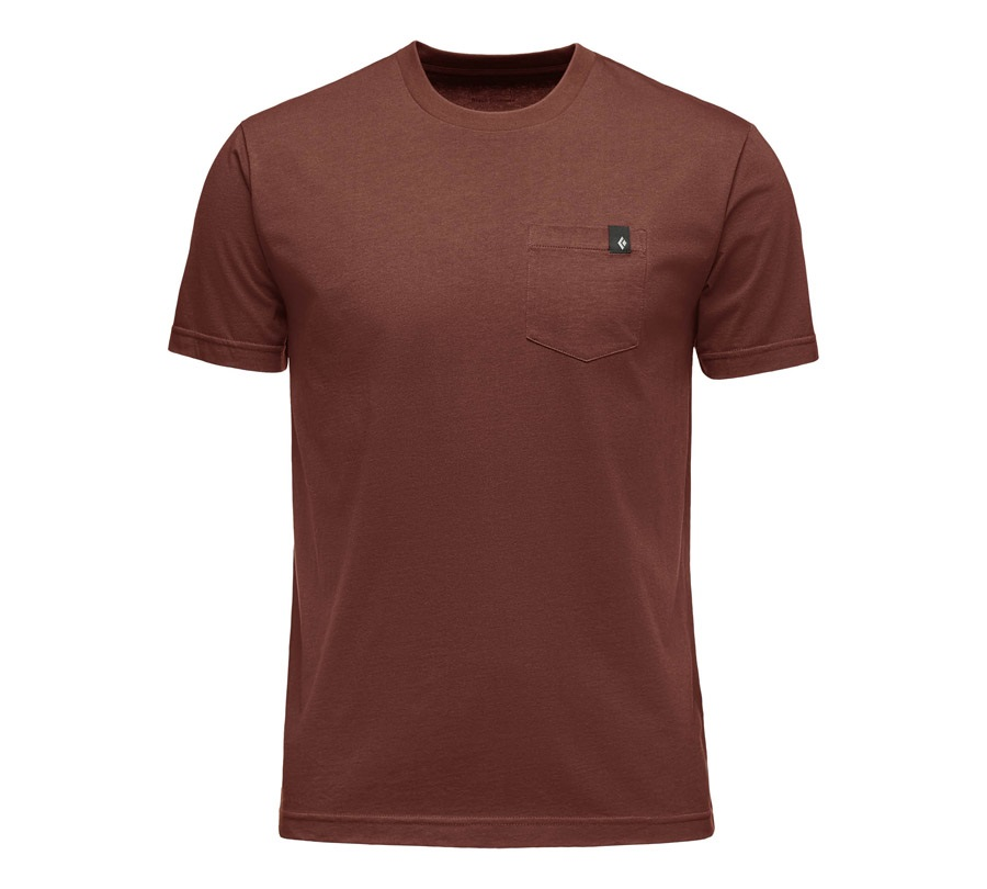 Black Diamond Men's Crag Pocket Rock Climbing Tee Shirt, L Red Oxide