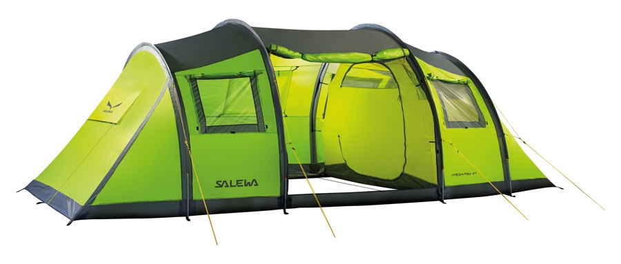 Salewa Midway VI Tent 2 Bedroom Camping Shelter, 6 Person Cactus
