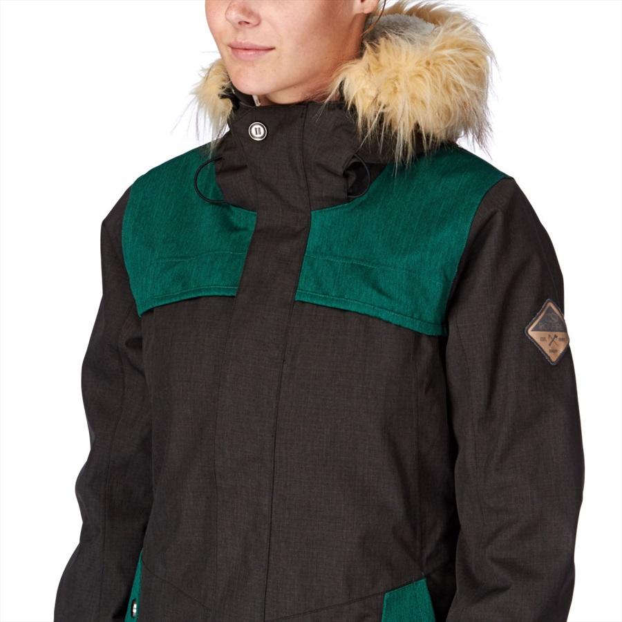 13b0ab97e Bonfire Holladay Women's Ski/Snowboard Jacket, XS, Black/Emerald