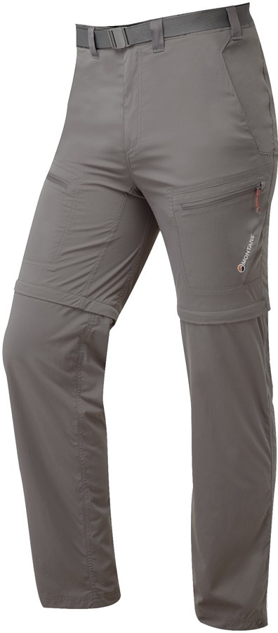 Montane Terra Convertible Hiking Trousers & Shorts, L Mercury