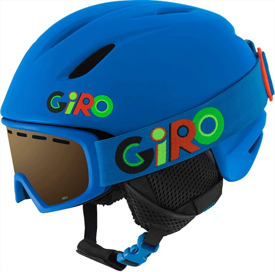 Giro Launch Combo Kids Ski/Snowboard Helmet, XS Blue Wild