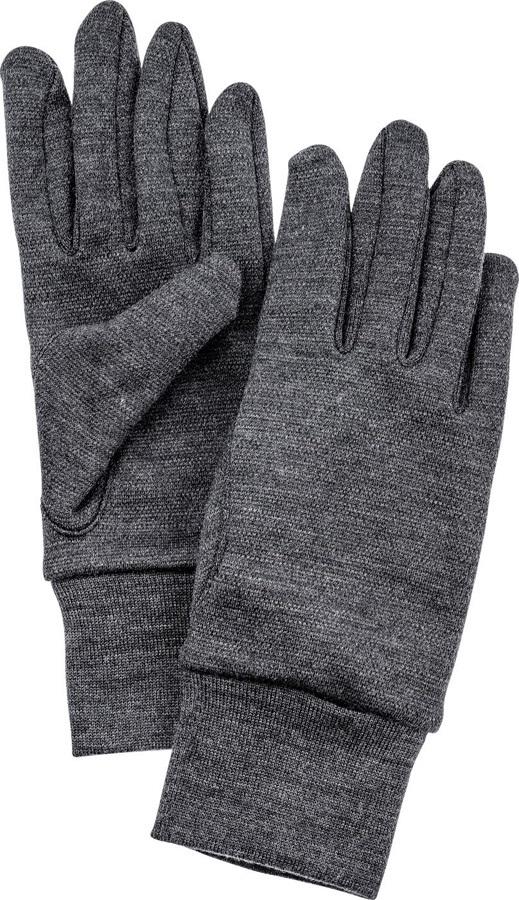 Hestra Heavy Merino Wool Ski/Snowboard Liner Gloves, L Grey