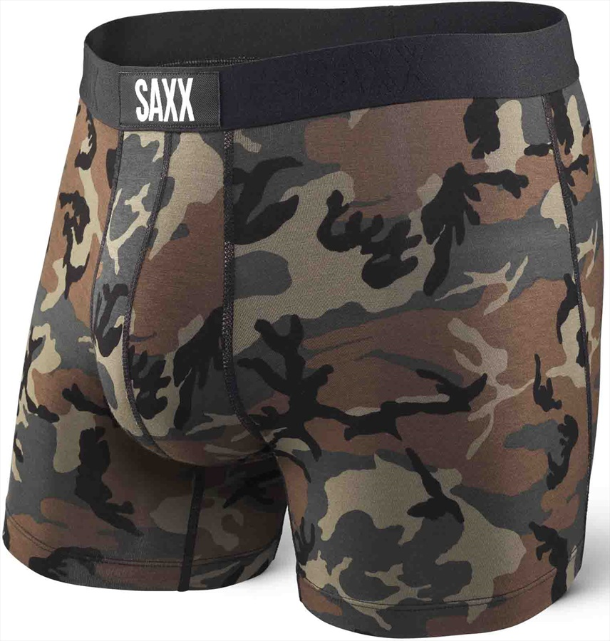 Saxx Vibe Boxer Brief, L Woodland Camo
