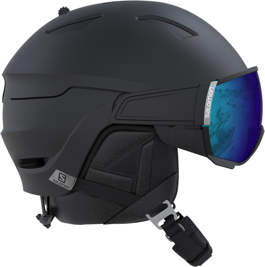 Salomon Driver Ski/Snowboard Visor Helmet, S, All Black