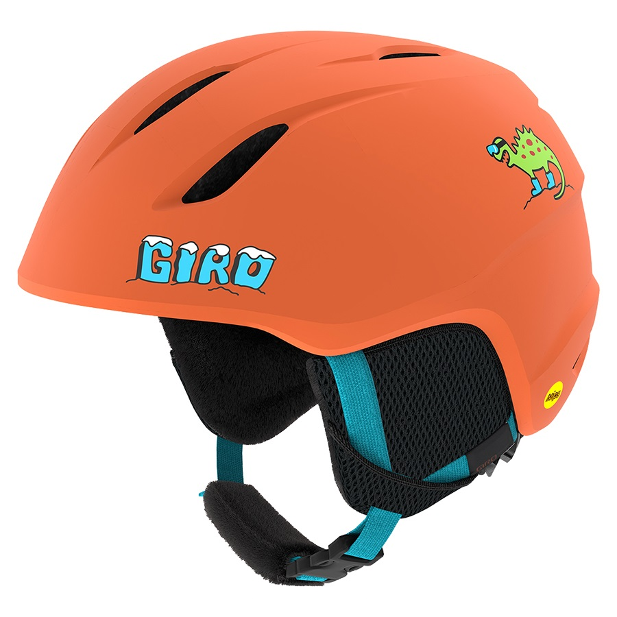 Giro Launch Kids Ski/Snowboard Helmet, XS Matte Deep Orange Dinosnow