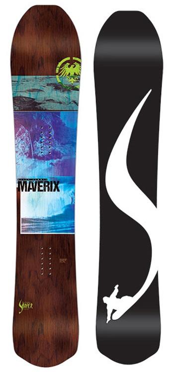 Never Summer Maverix Rocker Camber Snowboard, 160cm 2019