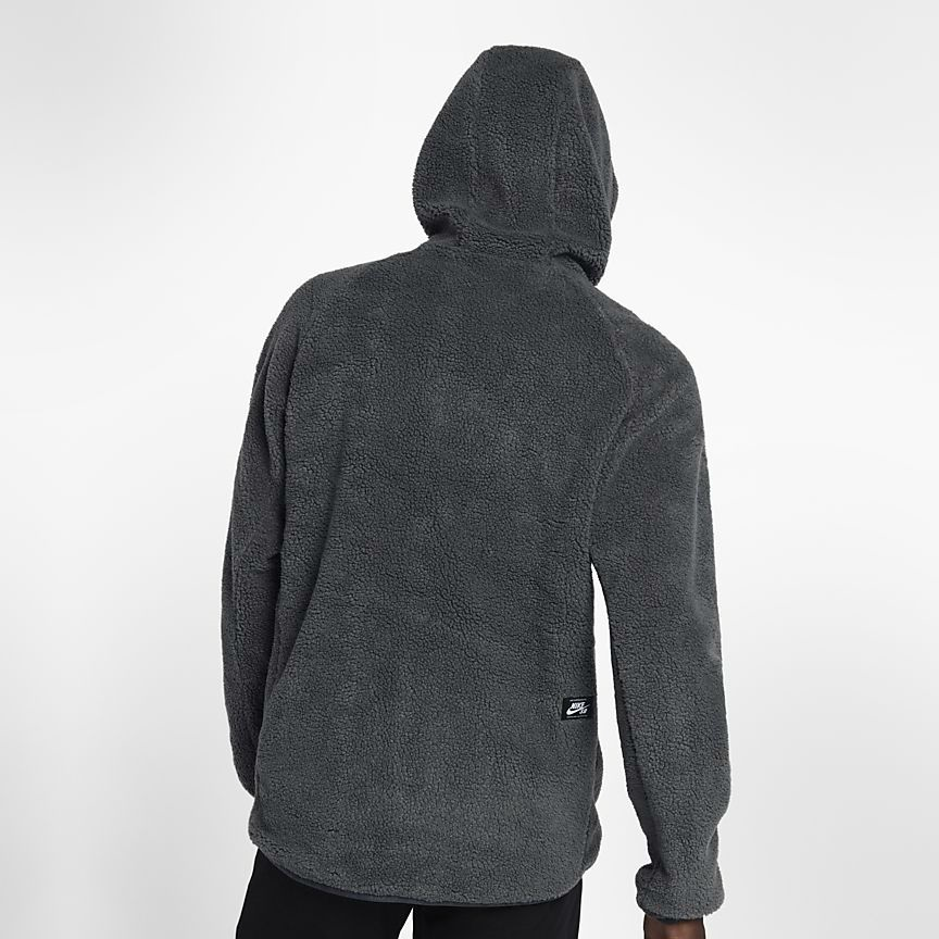 outlet store sale wholesale outlet quality design Nike SB Everett Sherpa Zipped Hoodie, L Anthracite/Mineral Gold