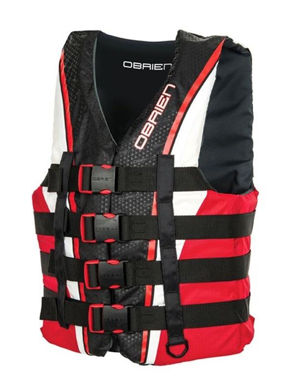 O'Brien 4 Buckle Pro Nylon CE Buoyancy Vest S Red