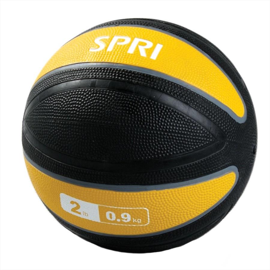 SPRI Xerball Medicine Ball, 0.9 KG Yellow