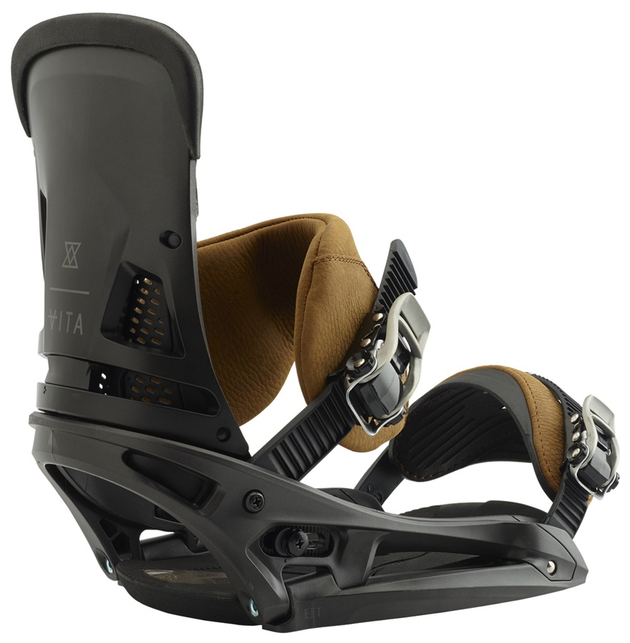 Burton Malavita Leather EST Snowboard Bindings, Large