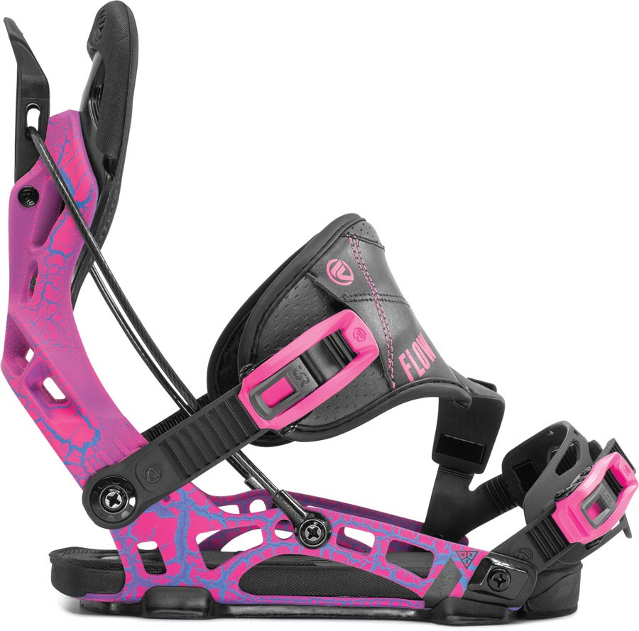 Flow NX2 Hybrid Step In Snowboard Bindings, L Magenta 2020