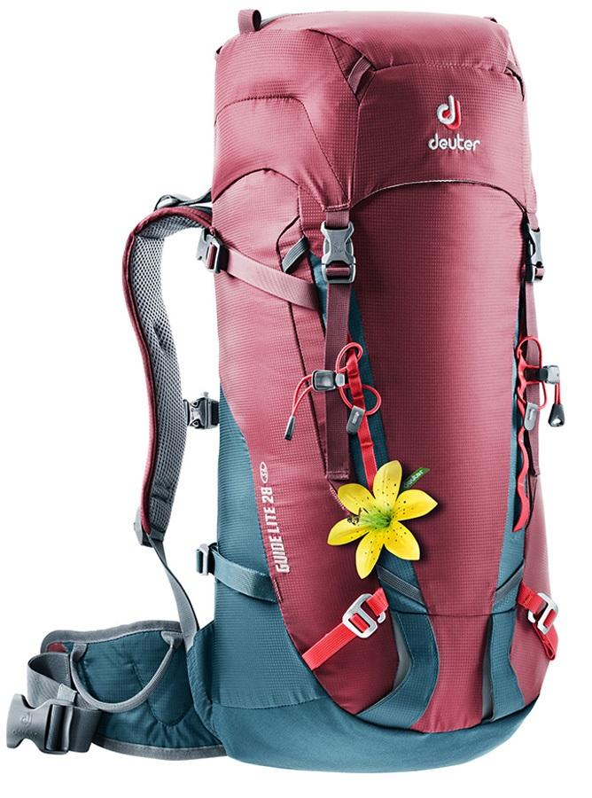 Deuter Womens Guide Lite 28+ SL Technical Alpine Backpack Maron-Arctic