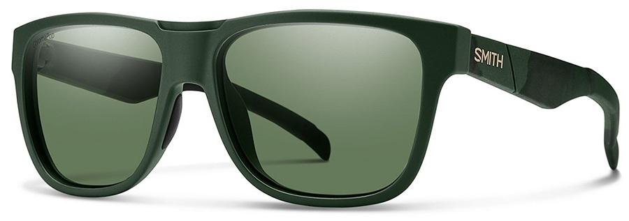 Smith Lowdown Grey Green Polarised Sunglasses, Matte Olive Camo