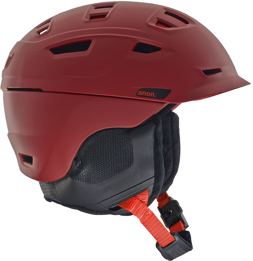 Anon Adult Unisex Prime MIPS Ski/Snowboard Helmet, L Red
