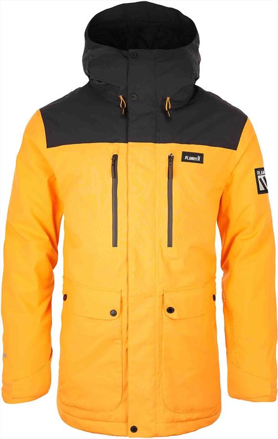Planks Good Times Ski/Snowboard Jacket, S Sunset Yellow