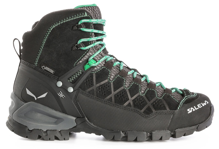 Salewa Alpine Trainer Mid GTX Women's Hiking Boot, UK 4 Blackout/Agata