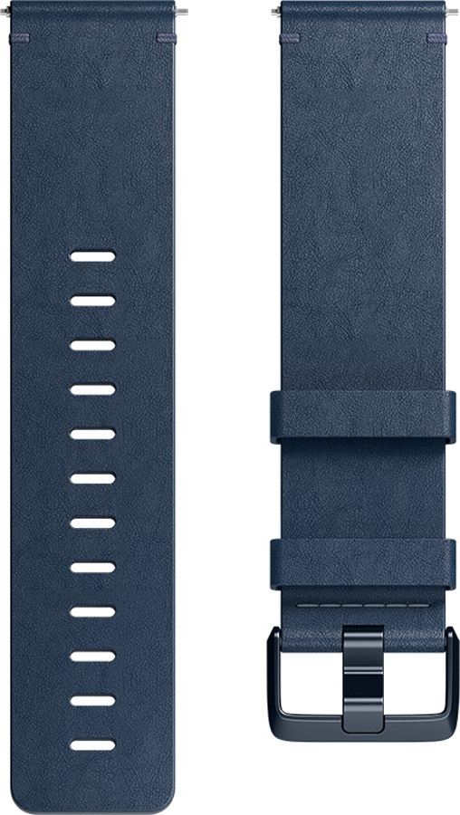 FitBit Versa Horween Leather Band Replaceable Strap Midnight Blue