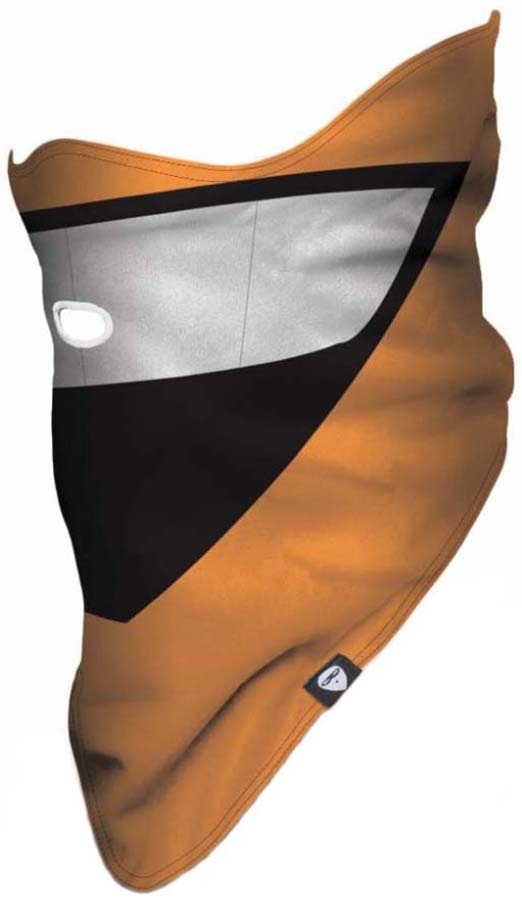 Airhole Polar Snowboard Pullover Face Mask, L/XL Cartoon Orange