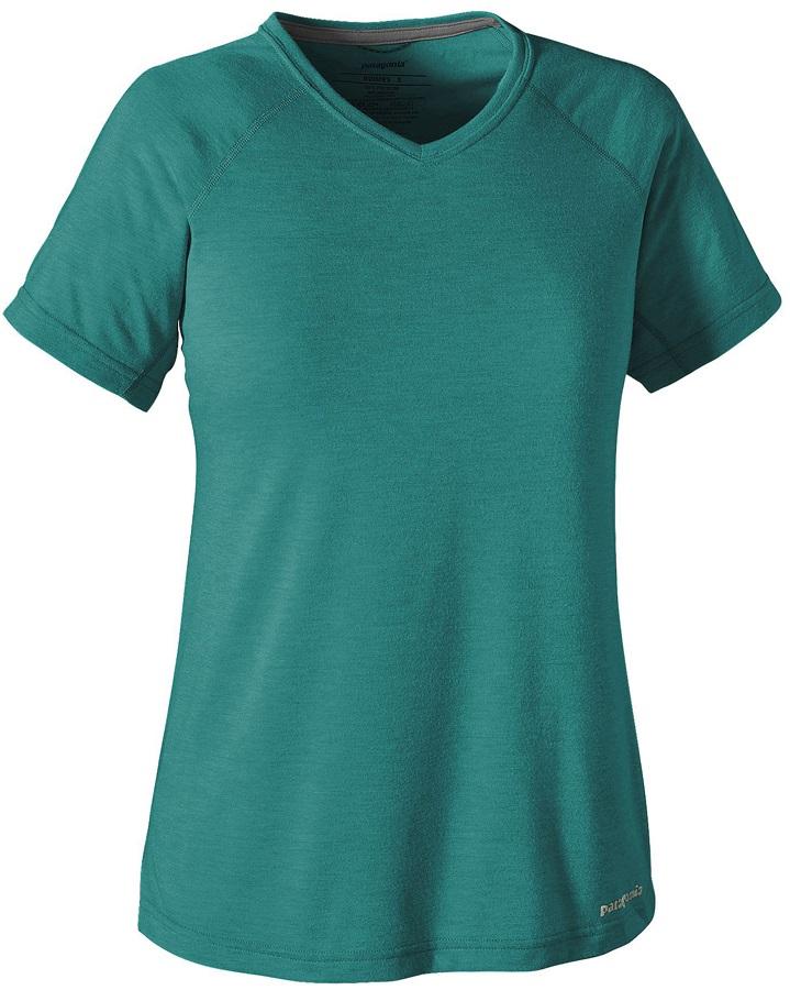 Patagonia Women's S/S Nine Trails Shirt L True Teal