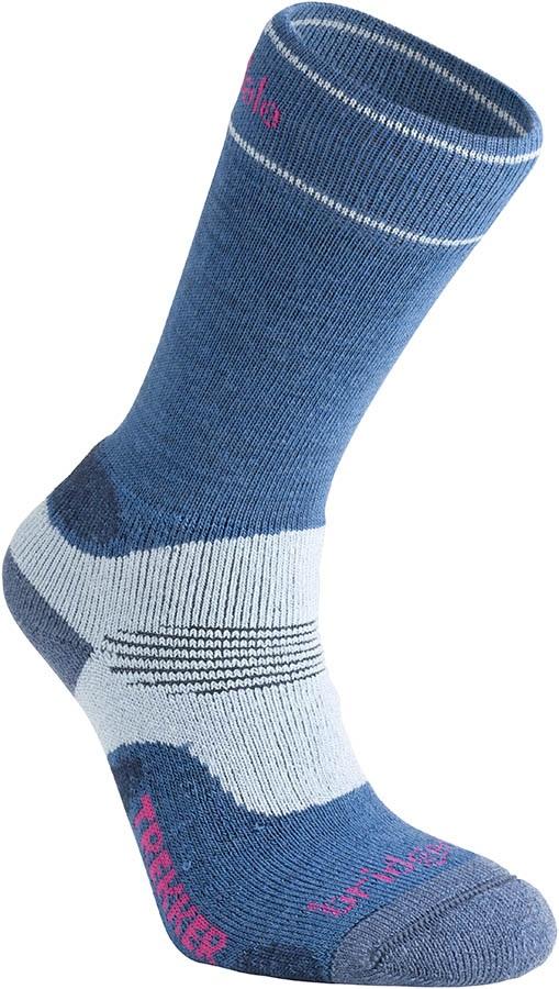 Bridgedale Hike Midweight Women's Hiking Socks, S Blue/Sky