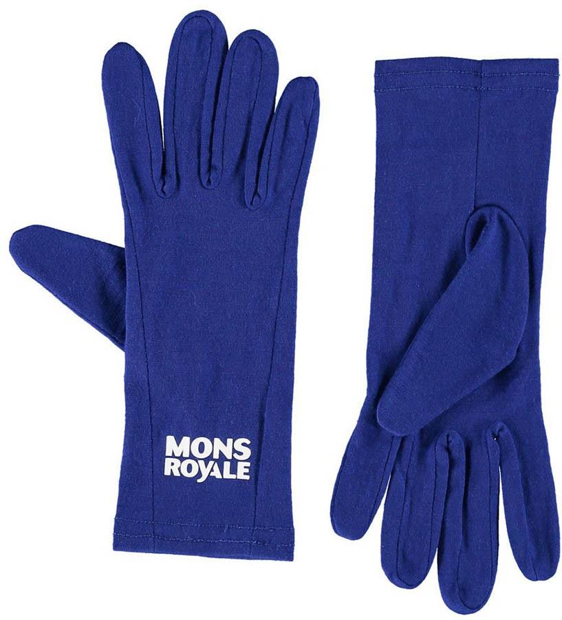 Mons Royale Volta Glove Liner, XL Electric Blue