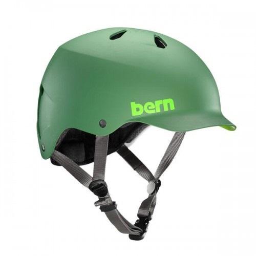 Bern Watts H2O Watersports Wakeboard Helmet, S Leaf Green