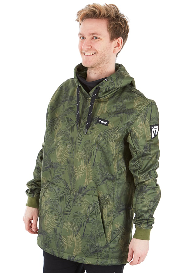 Planks Parkside Riding Hood Technical Hoodie, S Jungle Palm
