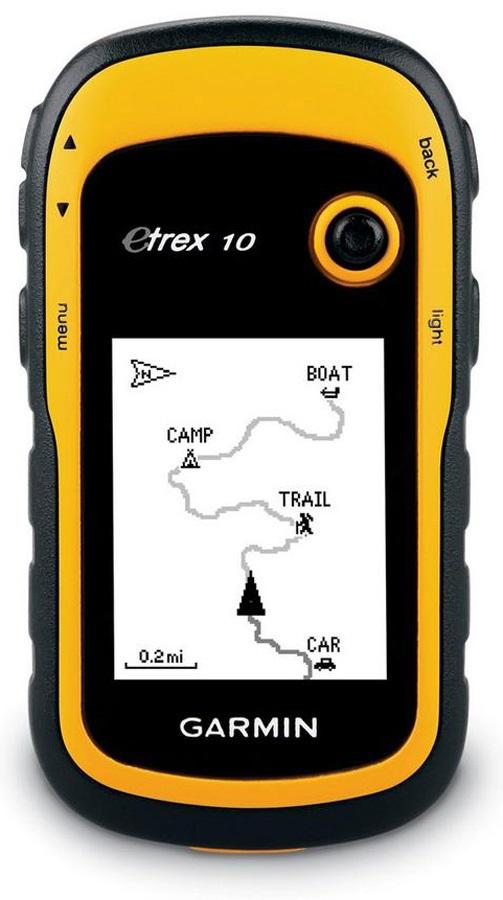 Garmin ETrex 10 GPS Handheld Worldwide Sat Nav, Yellow