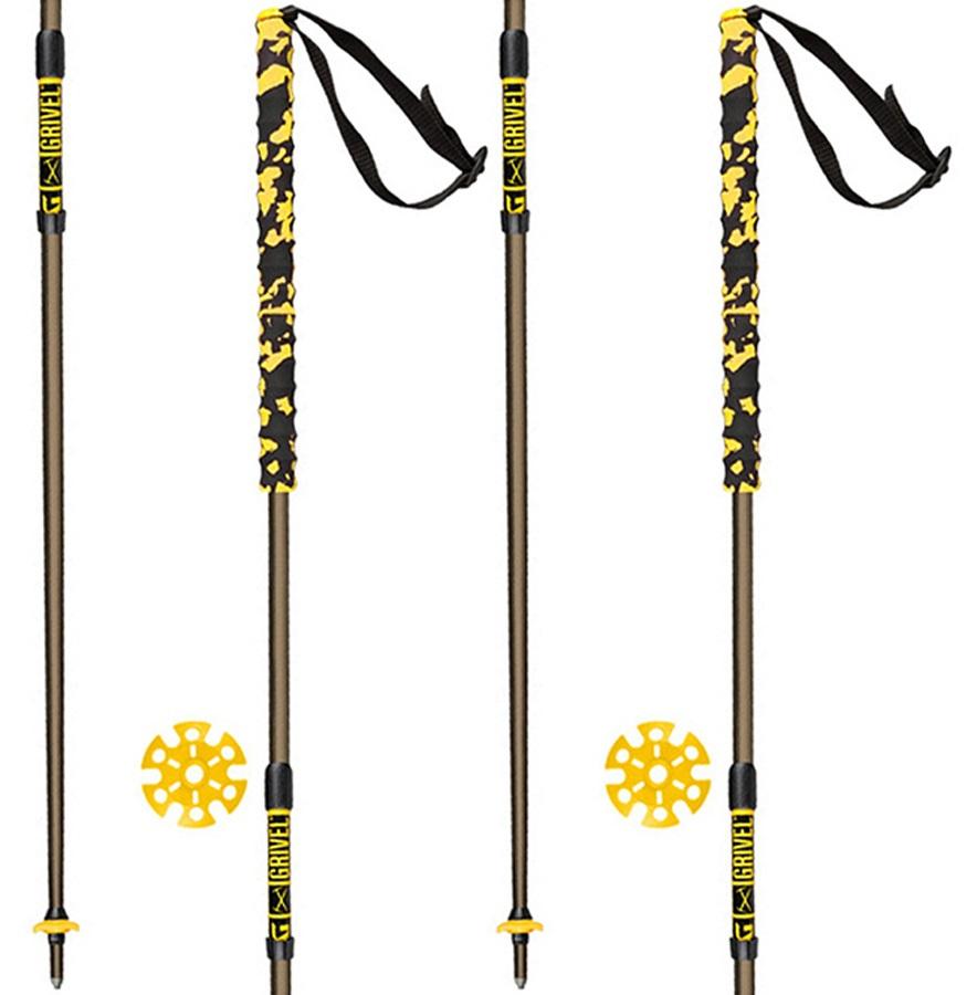 Grivel Trail 2 Knee System Folding Trekking Poles, 132cm Black/Yellow