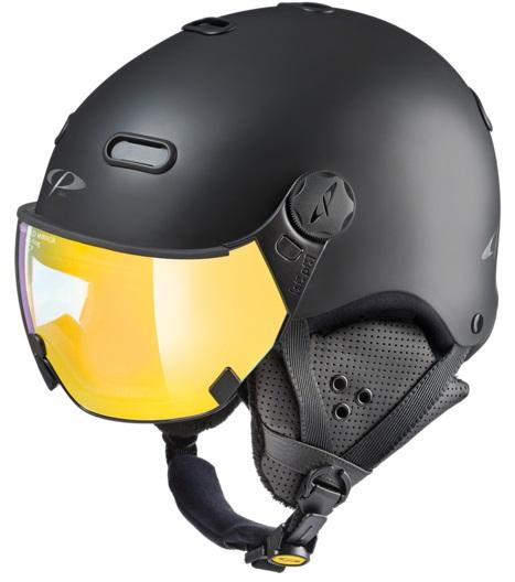 CP Carachillo Flash Gold Snowboard/Ski Visor Helmet, L Black