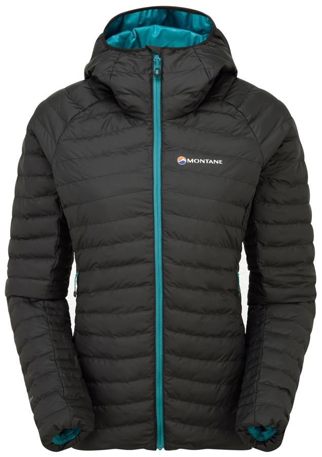 Montane Phoenix Baffle Women's Insulated Hooded Jacket, XS Black