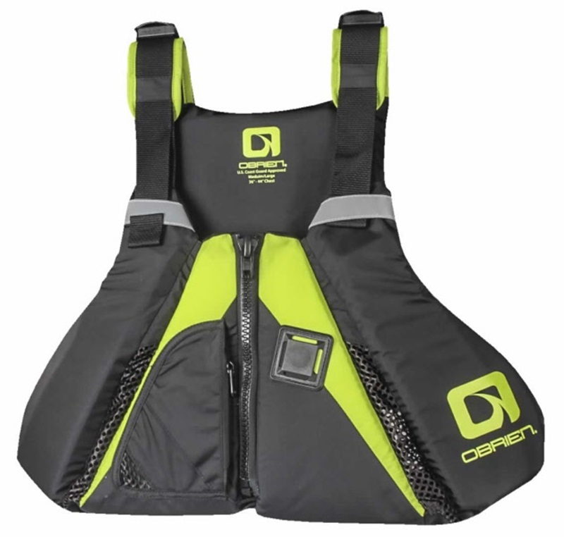 O'Brien Arsenal Flotation SUP Paddle Board Vest, M-L Black Green