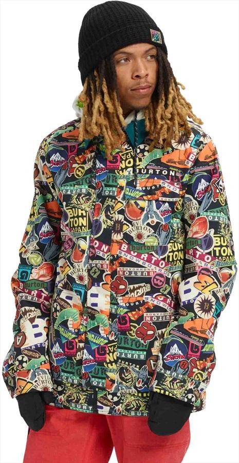 Burton Dunmore Snowboard/Ski Jacket, M Stickers