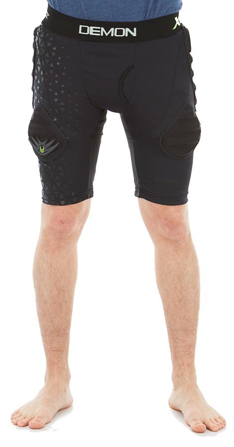 Demon Flex Force X D3O V3 Ski/Snowboard Impact Shorts, XL Black