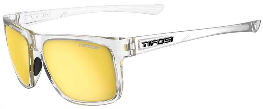 Tifosi Swick Sunglasses, Crystal Clear/Smoke Yellow